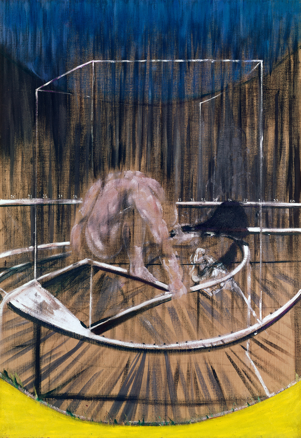 Francis Bacon, Study for Crouching Nude, 1952. Oil on canvas. CR number 52-01. © The Estate of Francis Bacon / DACS London 2020. All rights reserved.