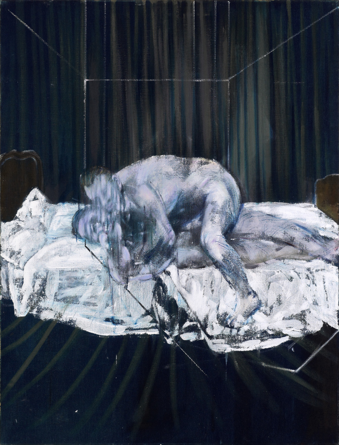 Image: Francis Bacon's oil on cavas painting: Two Figures, 1953. Catalogue raisonné number 53-24.