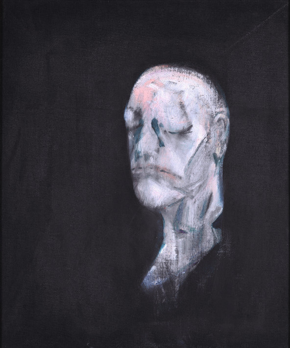 Francis Bacon, Study for Portrait II (after the Life Mask of William Blake) 1955. Oil paint on canvas. © The Estate of Francis Bacon / DACS London 2017. All rights reserved. Catalogue Raisonné Number 55-02.