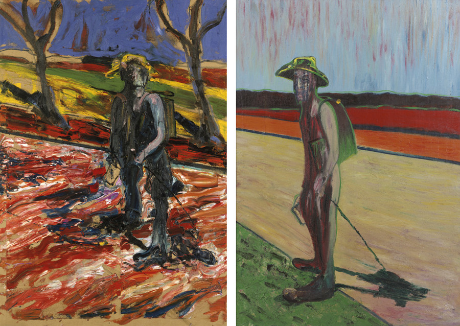 Francis Bacon, Study for Portrait Van Gogh III, 1957. Oil on canvas. Study for Portrait Van Gogh V, 1957. Oil and sand on canvas. © The Estate of Francis Bacon / DACS London 2017. All rights reserved.