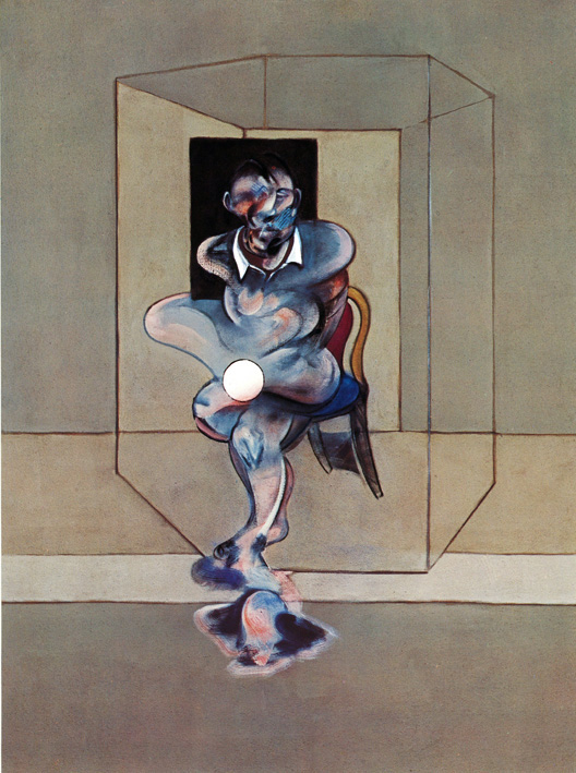 Decorative image: Francis Bacon's Study of Self-Portrait, 1976.