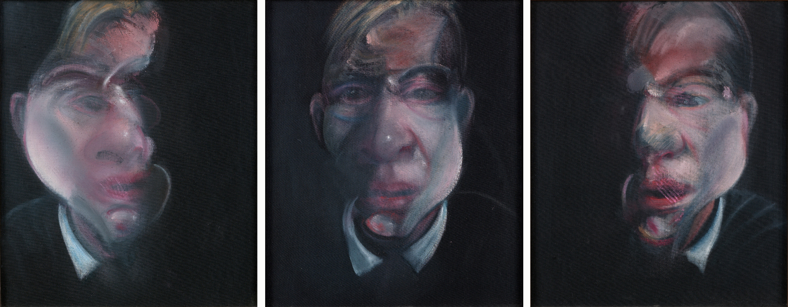 Decorative image: Francis Bacon's oil on canvas painting Three Studies for a Self-Portrait, 1979.