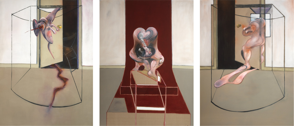 Francis Bacon's oil on canvas Triptych Inspired by the Oresteia of Aeschylus, 1981.