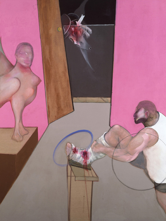 Decorative image: Francis Bacon's oil on canvas painting Oedipus and the Sphinx after Ingres, 1983.