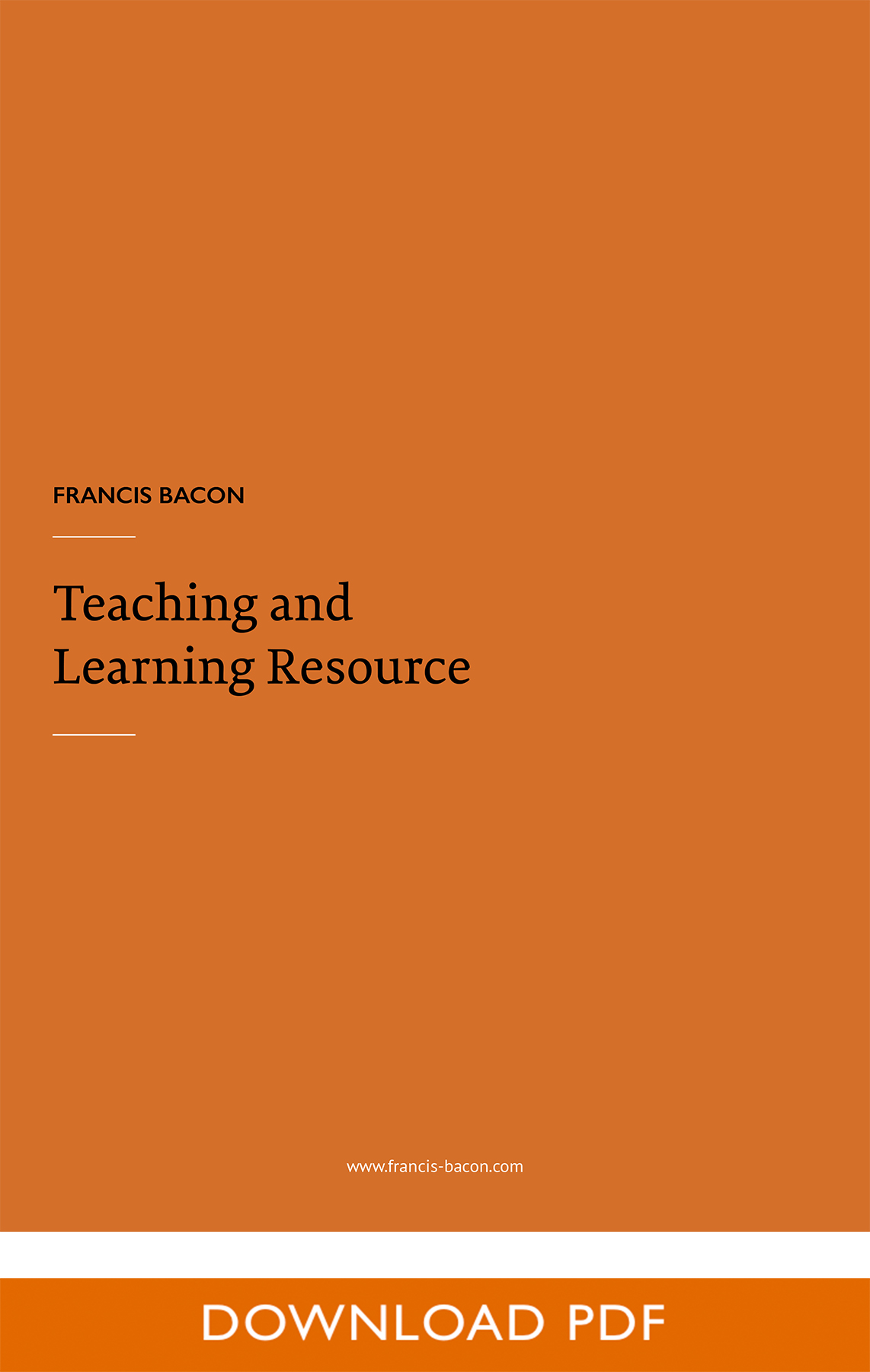 Teaching and Learning resource pdf cover