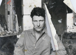 Bacon working material, John Deakin, Lucian Freud in his studio, ca. 1960s