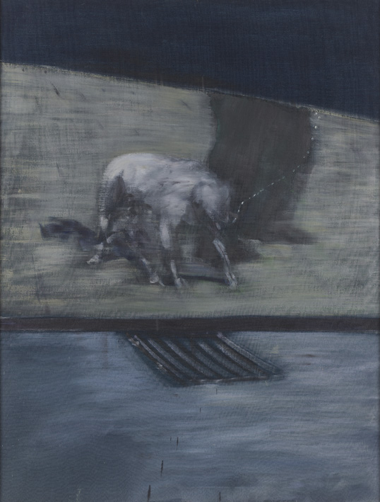 Francis Bacon, 'Man with Dog' 1953, oil on canvas, © The Estate of Francis Bacon / DACS London 2014. All rights reserved.