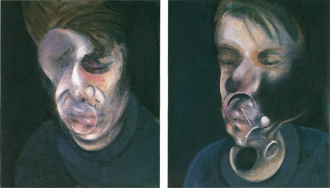 Francis Bacon, Two Studies for Self-Portrait, 1977. Oil paint on Canvas. © The Estate of Francis Bacon / DACS London 2015. All rights reserved.