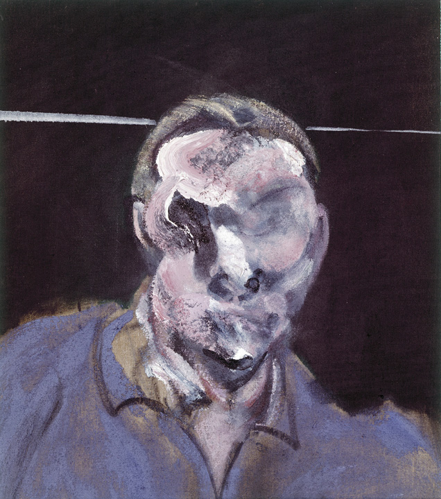 Francis Bacon, Head (Man in Blue), 1961. Oil paint on Canvas. © The Estate of Francis Bacon / DACS London 2015. All rights reserved.