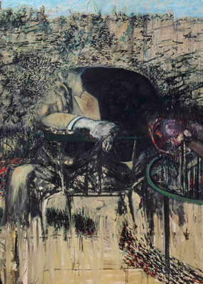Francis Bacon, Figure in a Landscape, 1945