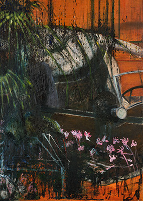 Francis Bacon, Landscape with Car, c. 1945-46