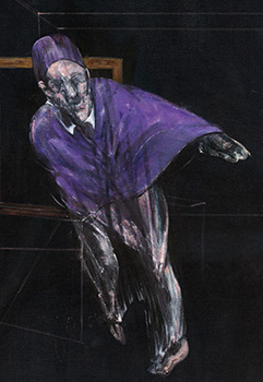 Francis Bacon, Study for a Pope, 1955