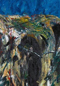 Francis Bacon, Figure in Mountain Landscape, 1956
