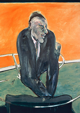 Francis Bacon, Seated Man, Orange Background, 1958