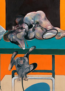 Francis Bacon, Two Figures with a Monkey, 1973