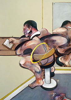 Francis Bacon, Figure Writing Reflected in Mirror, 1976