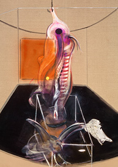 Francis Bacon, Carcass of Meat and Bird of Prey, 1980
