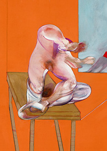Francis Bacon, Study from the Human Body - Figure in Movement, 1982