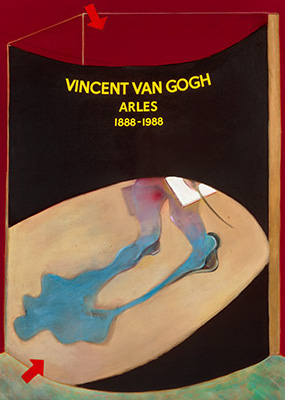 Francis Bacon, Poster for the 1988 Van Gogh Exhibition in Arles, 1985