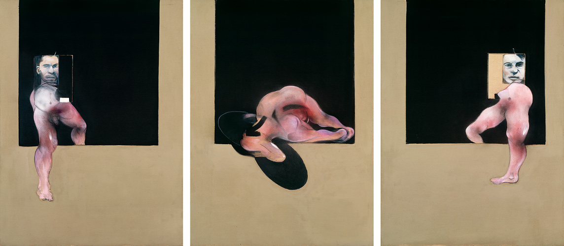 Decorative image, Francis Bacon, Triptych, 1991. Oil and aerosol paint on canvas.