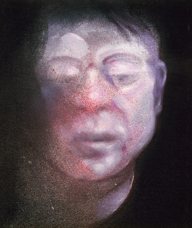 Francis Bacon's oil and aerosol paint on canvas Self-Portrait, 1987.