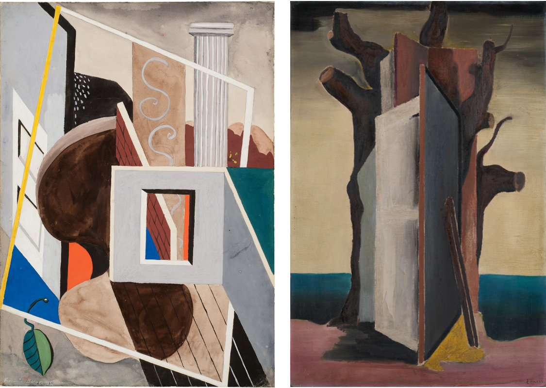 Decorative image: Francis Bacon's 'Gouache', 1929 and 'Painting', c.1930.