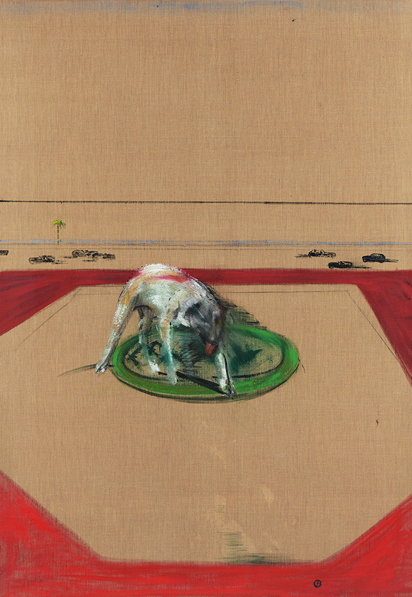Decorative image: Francis Bacon's Dog, 1952.