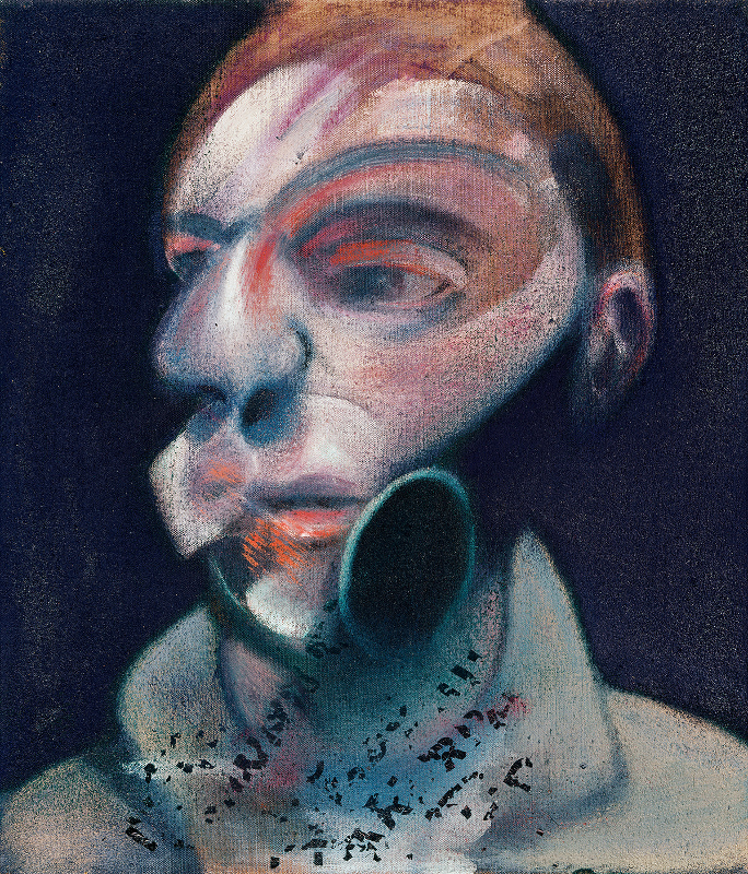 Image: Francis Bacon's oil on canvas painting: Self-Portrait, 1975. Catalogue raisonné number 75-02.