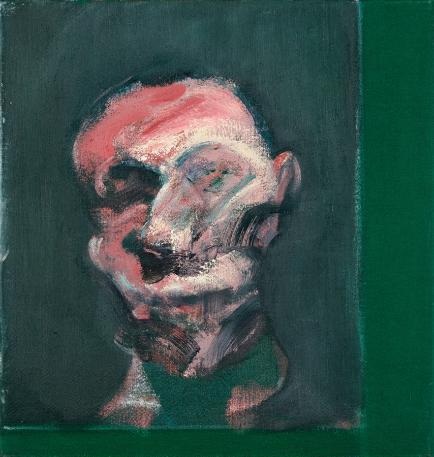 Image: Francis Bacon's oil on canvas painting: Head of a Man, 1959. Catalogue raisonné number 59-11.