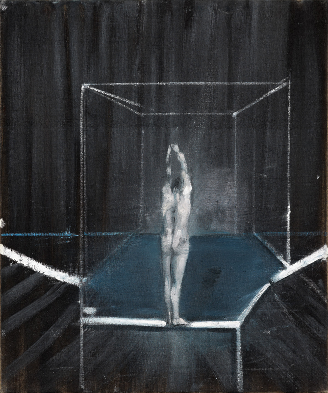Image: Francis Bacon's oil on canvas painting: Study of a Nude, 1952–53. Catalogue raisonné number 53-01.