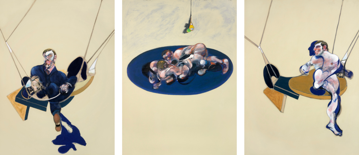 Image: Francis Bacon's oil on canvas painting: Triptych, 1970. Catalogue raisonné number 70-10.