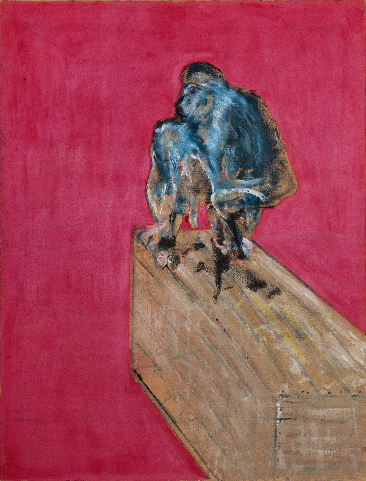 Francis Bacon, Study for Chimpanzee, 1957. Oil on canvas. CR number 57-09. © The Estate of Francis Bacon / DACS London 2019. All rights reserved.
