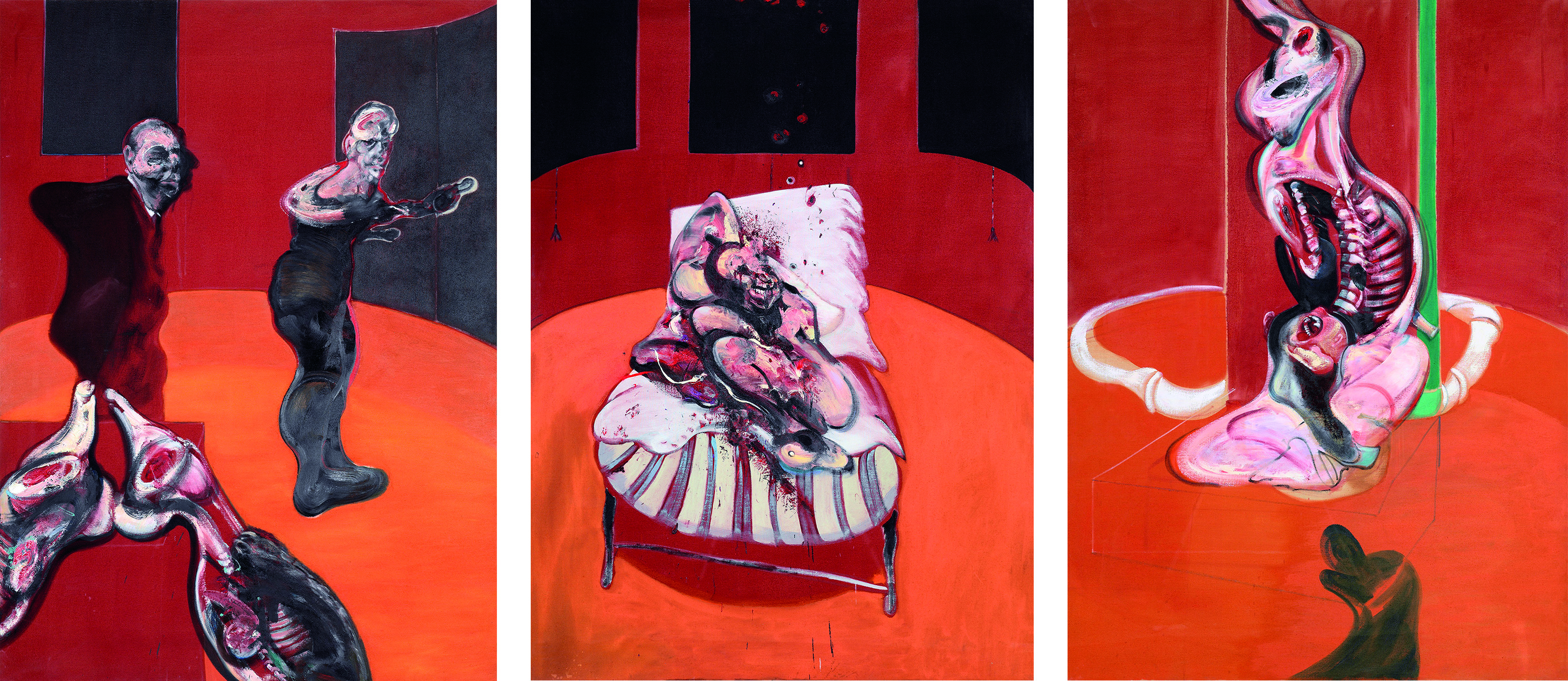 Francis Bacon, Three Studies for a Crucifixion, 1962. Oil on canvas. CR number 62-04. © The Estate of Francis Bacon / DACS London 2019. All rights reserved.