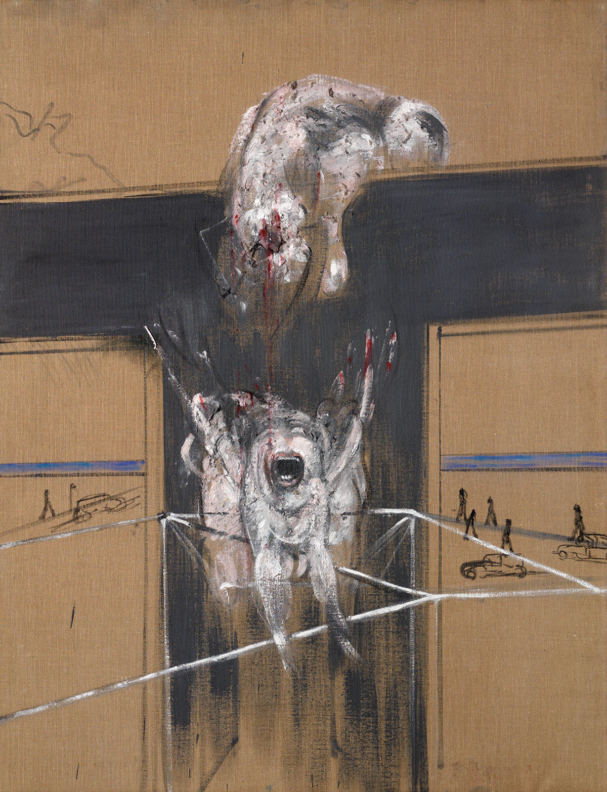 Francis Bacon, Fragment of a Crucifixion, 1950. Oil and cotton wool on canvas. CR number 50- 02. © The Estate of Francis Bacon / DACS London 2020. All rights reserved.