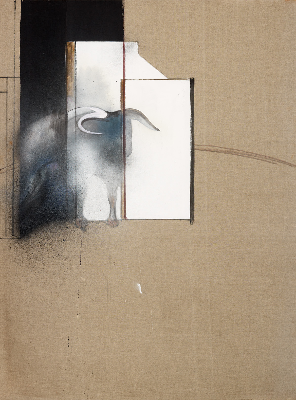 Francis Bacon, Study of a Bull, 1991. Oil, aerosol paint and dust on canvas. CR number 91-04. © The Estate of Francis Bacon / DACS London 2020. All rights reserved.