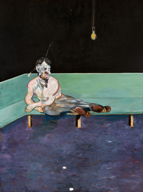 Decorative image, Francis Bacon's oil on canvas painting, Study for Portrait of Lucian Freud, 1964.