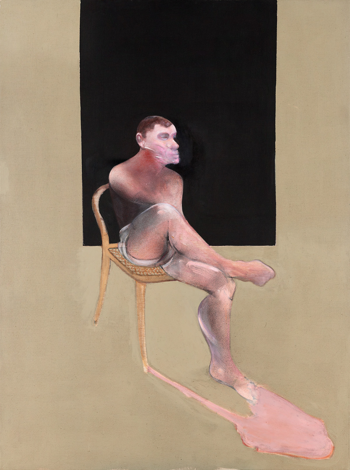 Francis Bacon, Portrait of John Edwards, 1988. Oil and aerosol paint on canvas. CR number 88-06. © The Estate of Francis Bacon / DACS London 2020. All rights reserved.