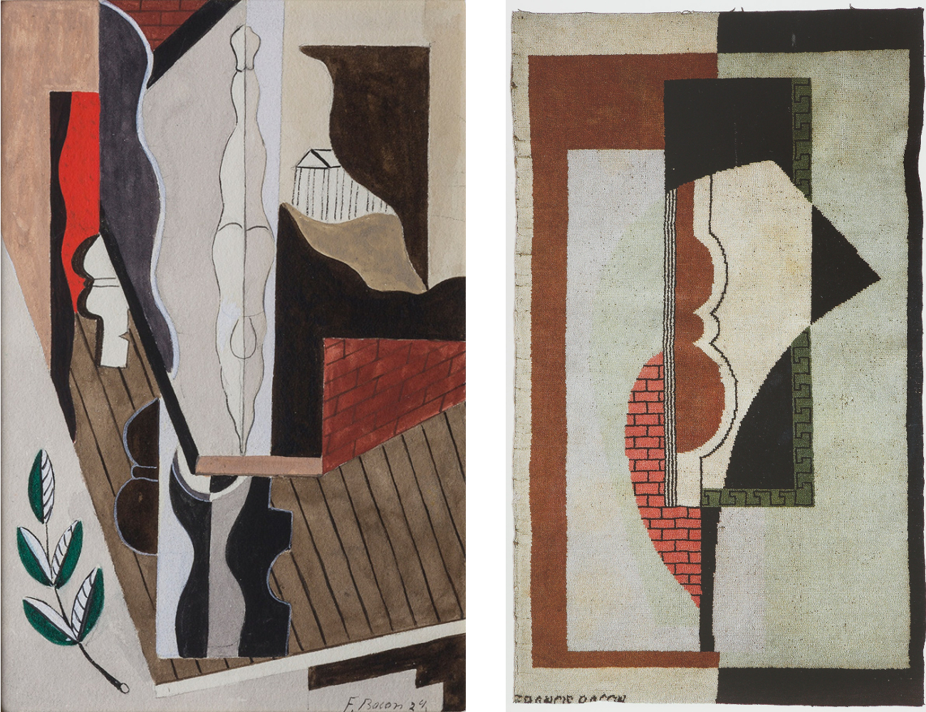 Francis Bacon's 'Watercolour', 1929 and Rug, Composition c.1929.