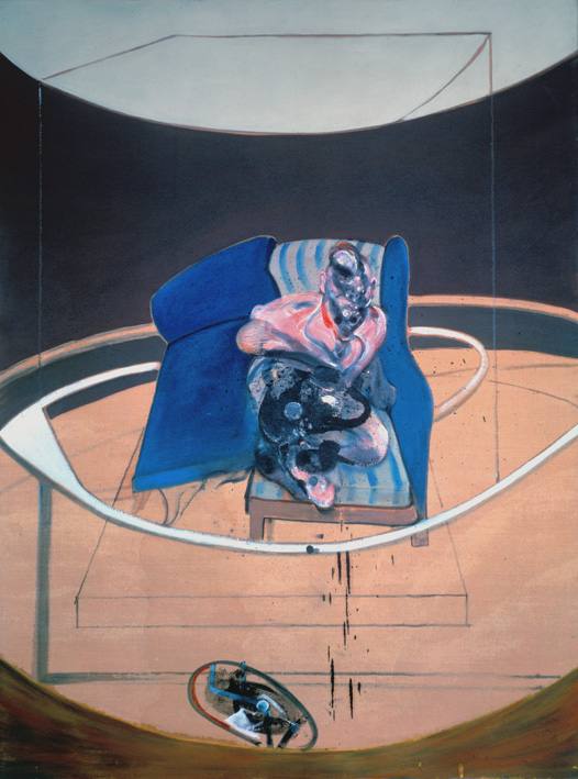 Decorative image: Francis Bacon's oil on canvas painting Study for Portrait on Folding Bed, 1963