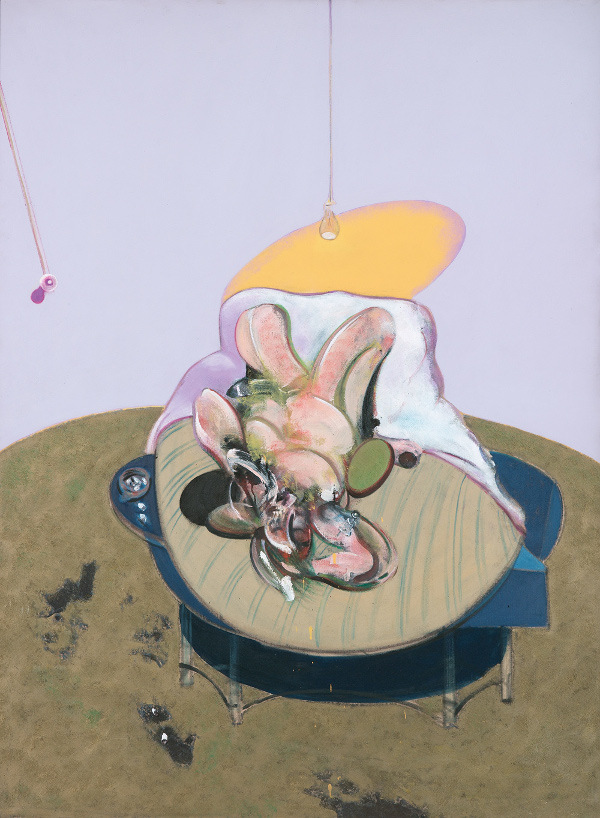 Francis Bacon, Lying Figure, 1969. Oil on canvas. The Estate of Francis Bacon / DACS London 2016. All rights reserved. A lithograph of this painting was donated by the Estate to the Terrence Higgins Trust charity auction.
