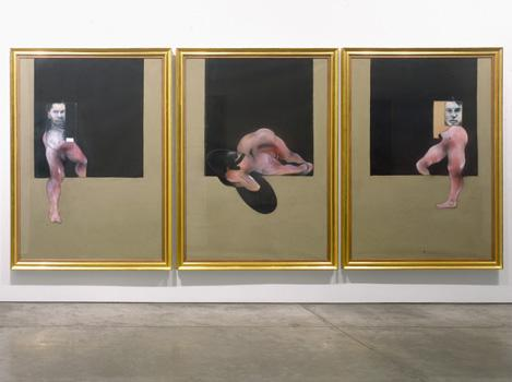 Installation shot from Important Paintings from the Estate including 91-02 Triptych