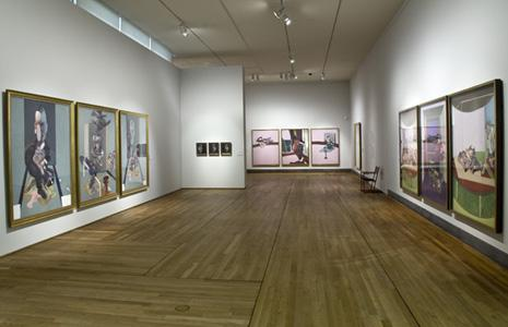 Installation shot from Prado 2009 including 76-05 Triptych