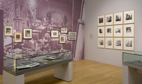 Installation shot from Tate 2008 including display of working material