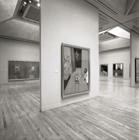 Installation shot from 'Francis Bacon' exhibition, Tate, London, 22 May - 18 August 1985