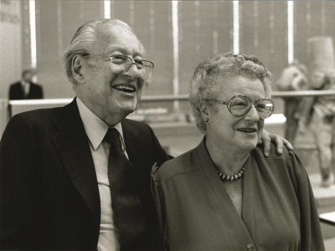 Photograph of Robert and Lisa Sainsbury