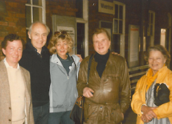 John Stephenson, Richard Chopping, Francis Bacon and Ianthe Knott in Wivenhoe (detail), May 1985