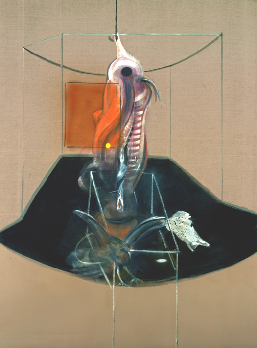 Francis Bacon, 'Carcass of Meat and Bird of Prey' 1980, Oil paint on Canvas. © The Estate of Francis Bacon / DACS London 2014. All rights reserved.