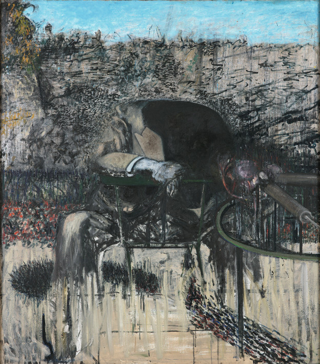 Image: 'Figure in a Landscape' 1945, Francis Bacon (1909-1992), Tate collection, © Tate, London 2014.