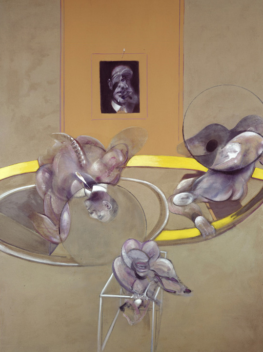 Francis Bacon, Three Figures and Portrait, 1975. Oil and pastel on canvas. © The Estate of Francis Bacon / DACS London 2015. All rights reserved.